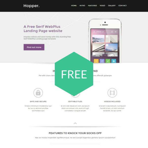Template Serif Webplus X8 X7 Templates Professional Premium