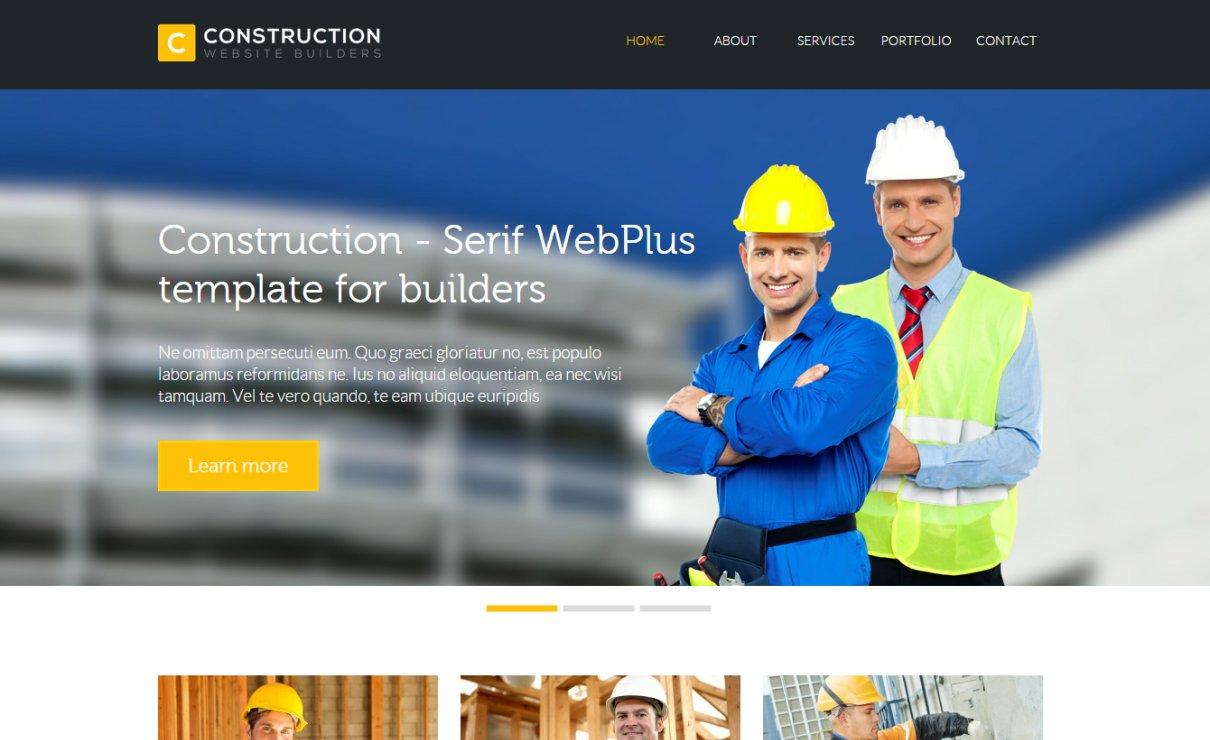 Construction Template   Serif WebPlus Templates