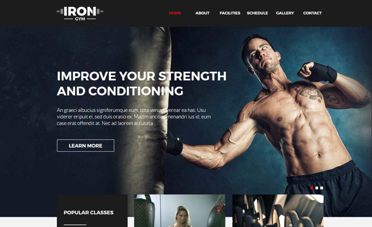 Iron Gym Template   Serif WebPlus Templates