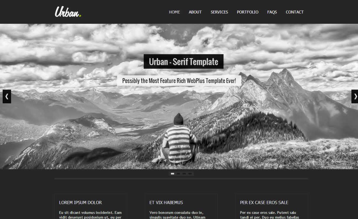 Urban Dark | Serif WebPlus Templates