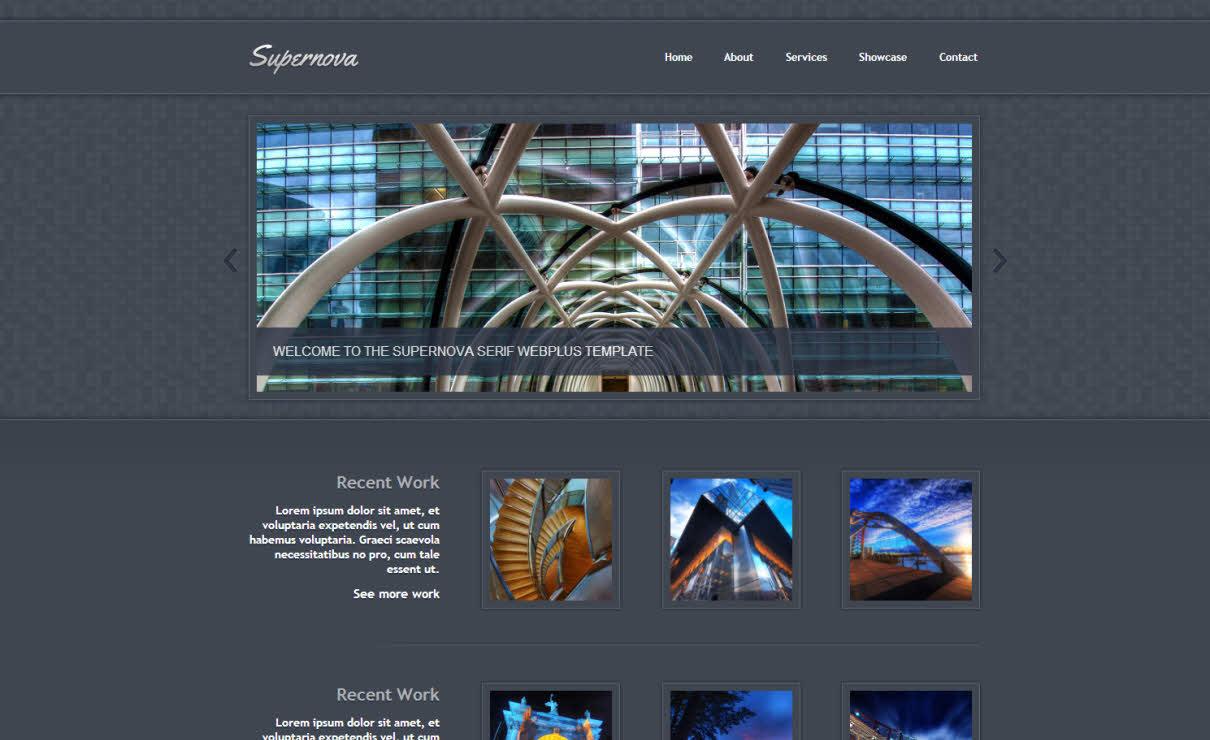 Supernova Dark | Serif WebPlus Templates
