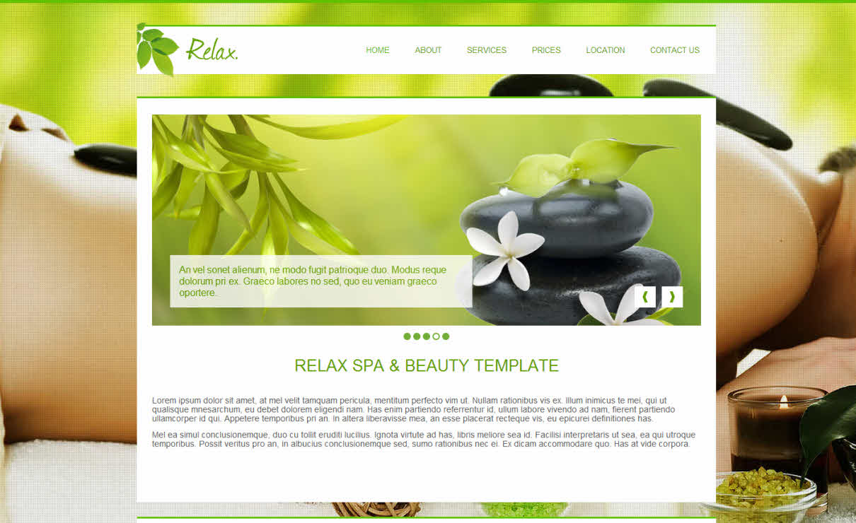 Relax Spa & Beauty   Serif WebPlus Templates