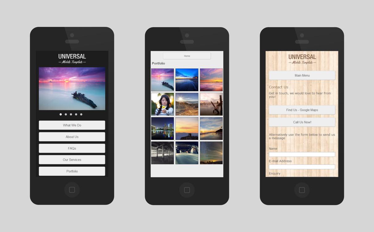 Universal Mobile | Serif WebPlus Templates