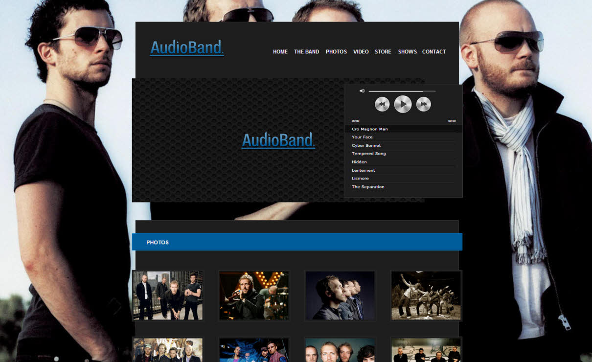 Audioband | Serif WebPlus Templates