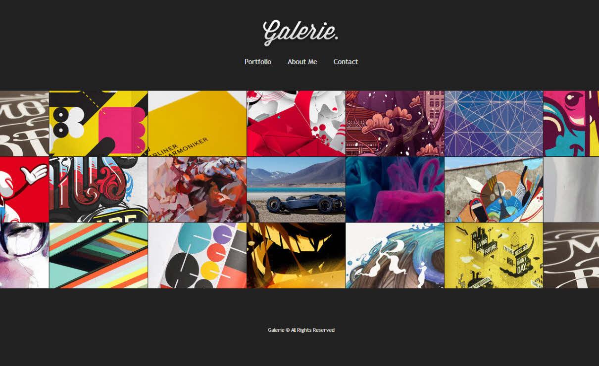 Galerie Template   Serif WebPlus Templates