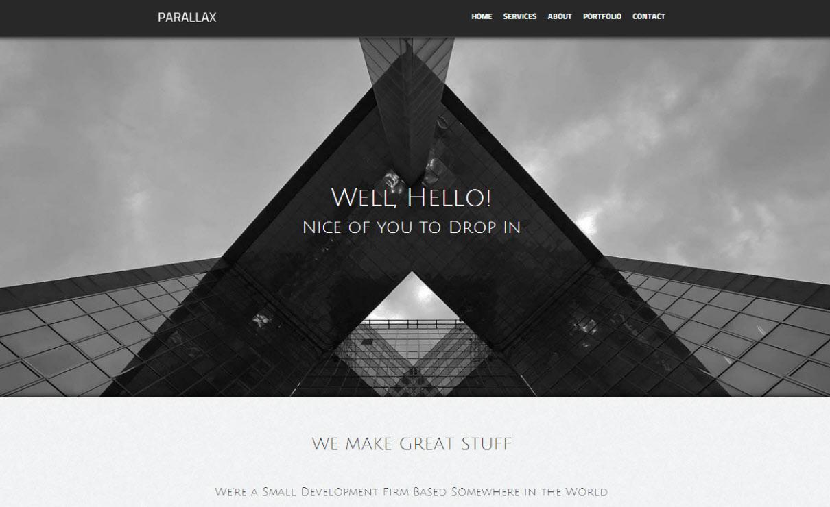 Parallax | Serif WebPlus Templates